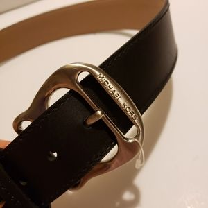 New with tags Michael Kors black leather belt